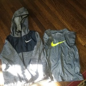 Nike Zip up hoodie and dry fit T